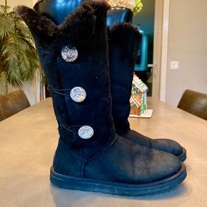 Authentic Ugg Rhinestone Tall Boots - Size 9